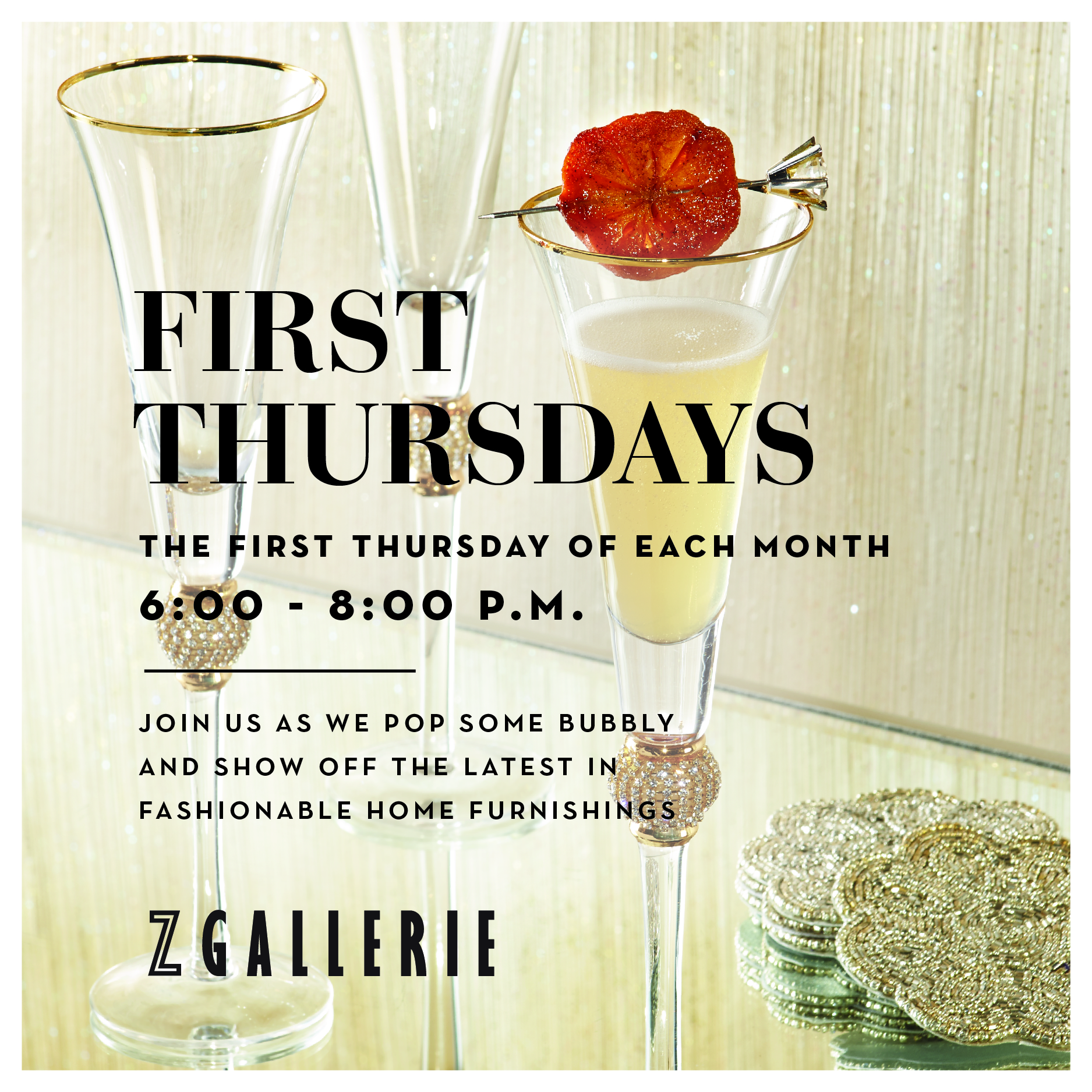 Join Us Every First Thursday