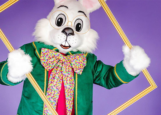 Hop on in for photos with the Easter Bunny