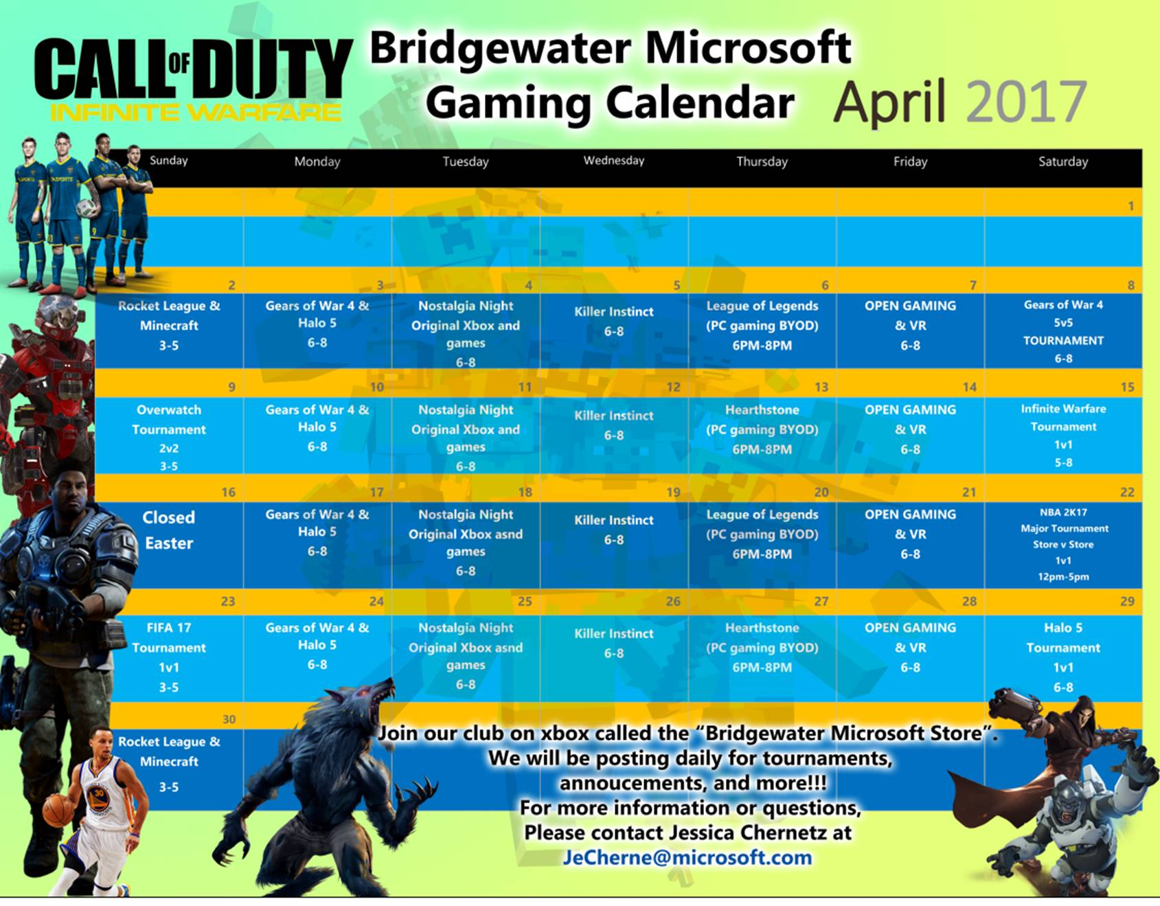 Microsoft Gaming Events For April