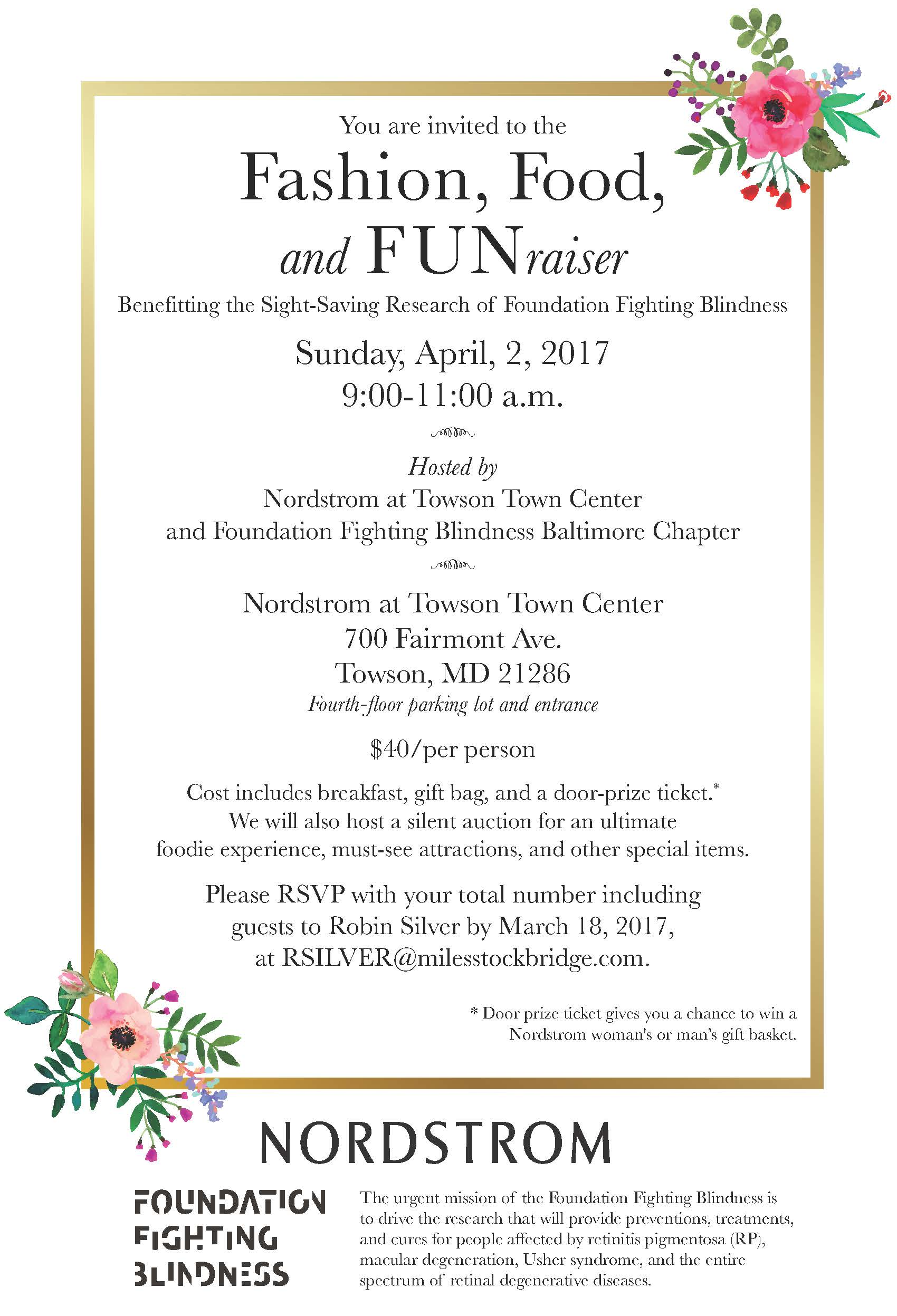 Fashion, Food, and FUNraiser!