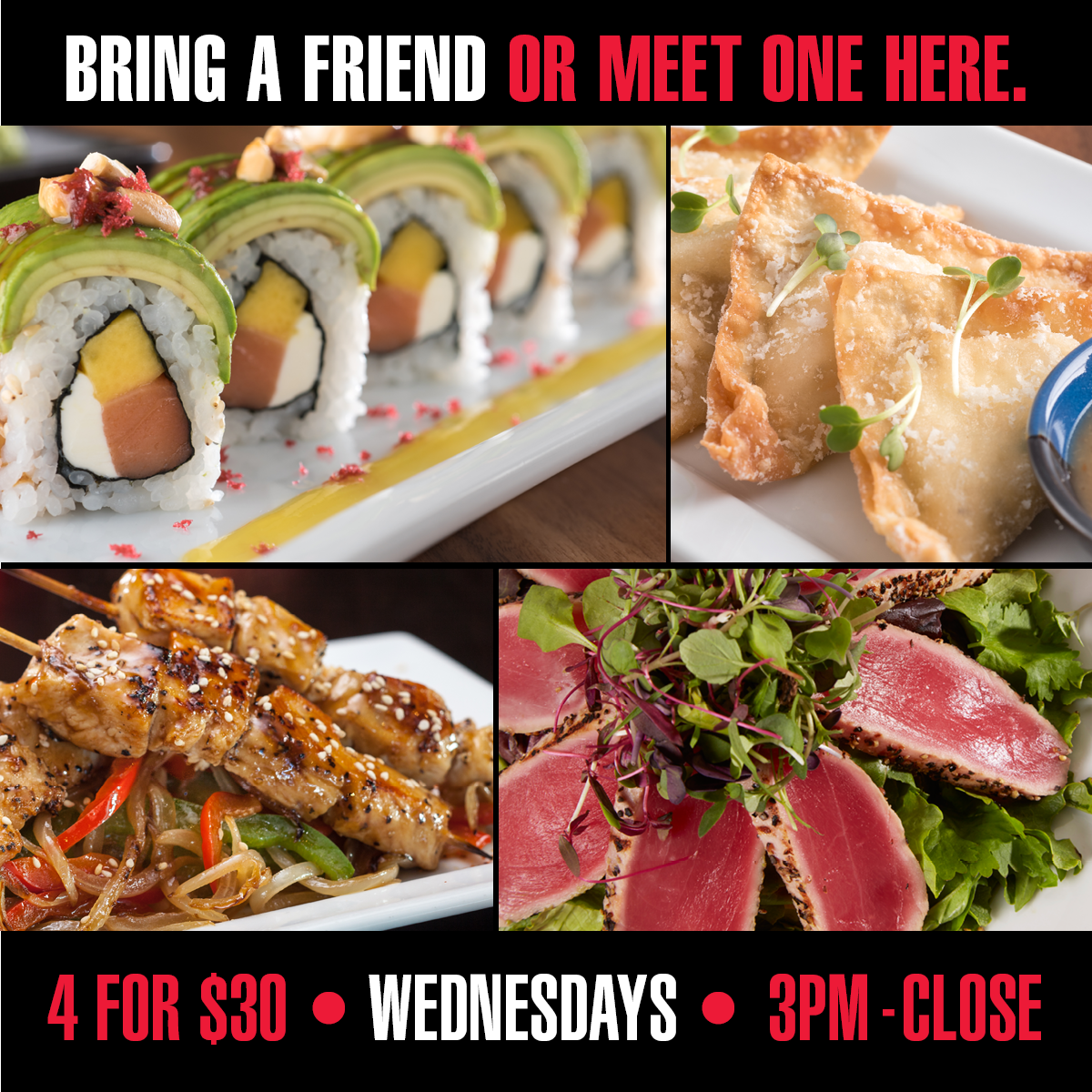 RA Sushi - Pick 4 for $30 Wednesday  in May
